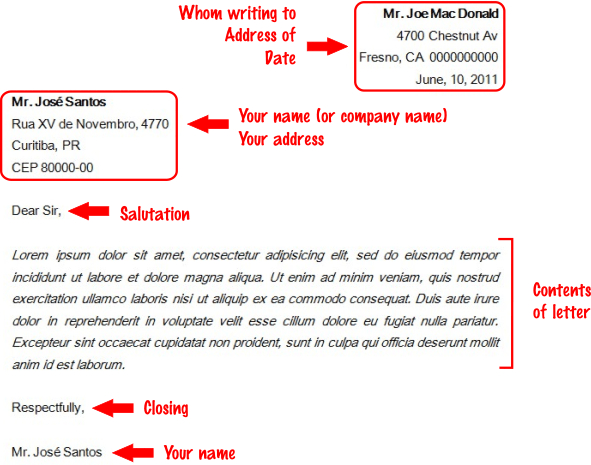 writing a formal letter rules In english there are a number of conventions that should be used when writing a formal or business letter furthermore, you try to write as simply and as clearly as possible, and not to make the letter longer than necessary remember not to use informal language like contractions.