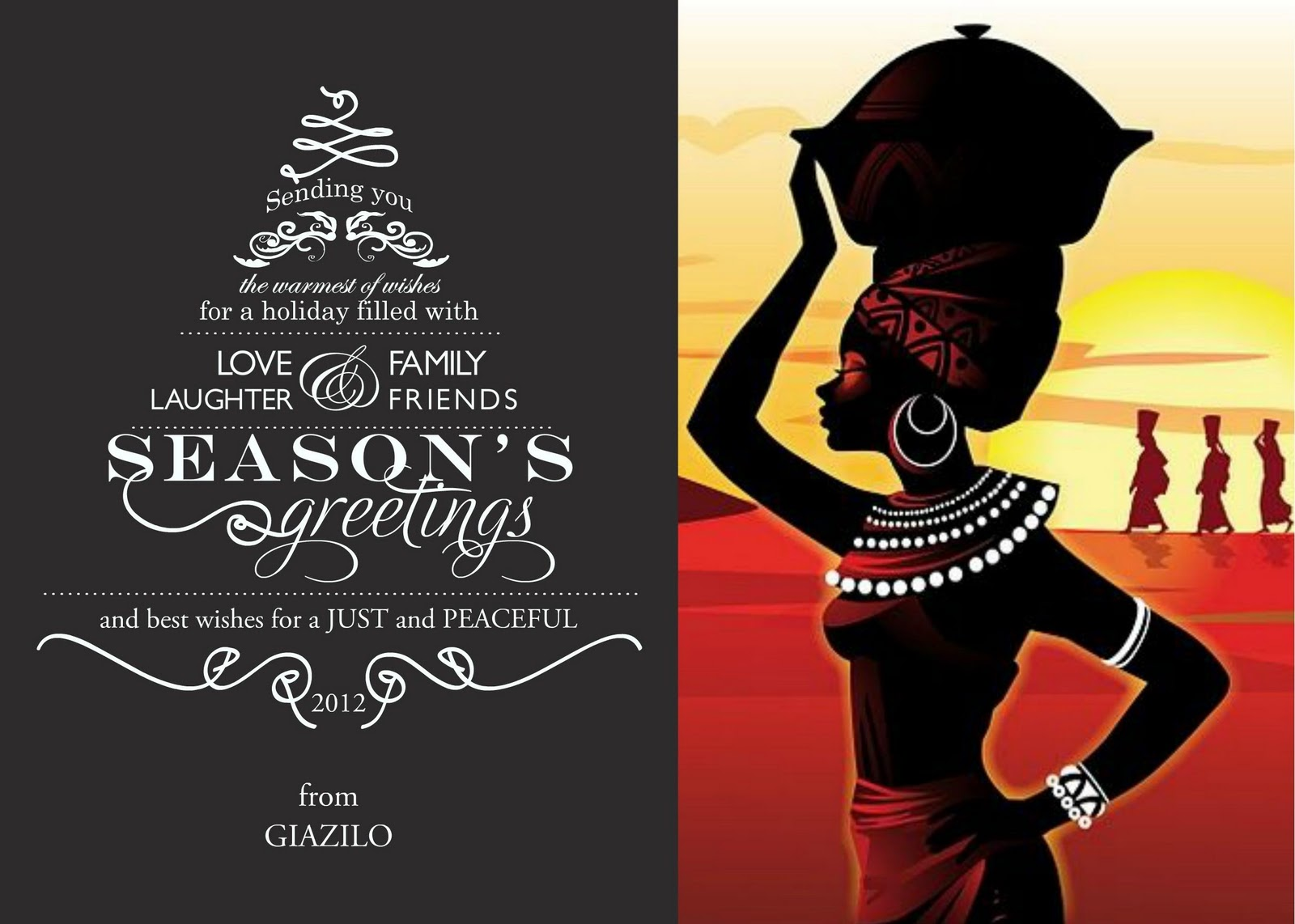 Seasons Greetings And Best Wishes For Just And Peaceful 2012 Giazilo