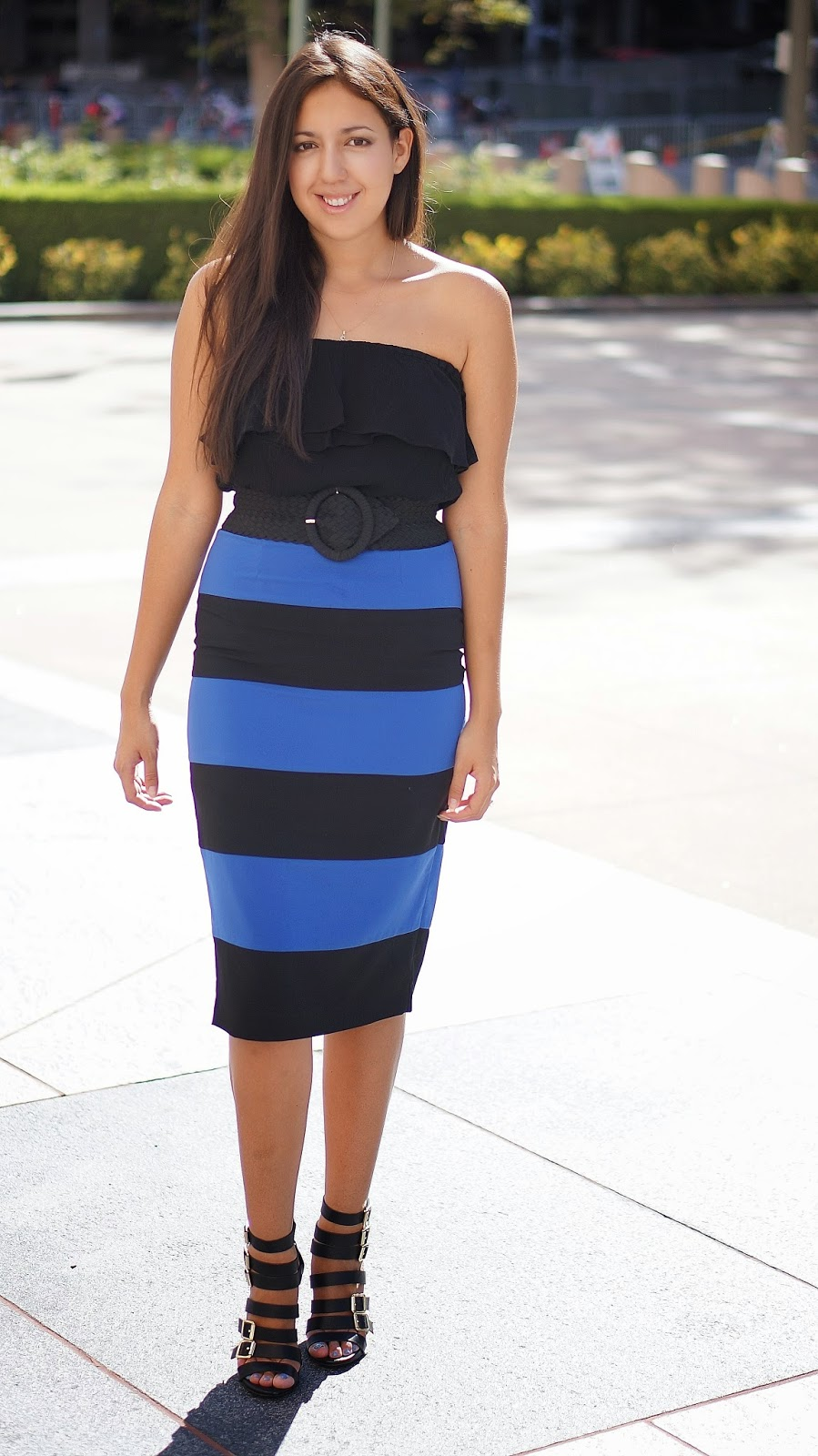Forever 21 Stripe Pencil skirt