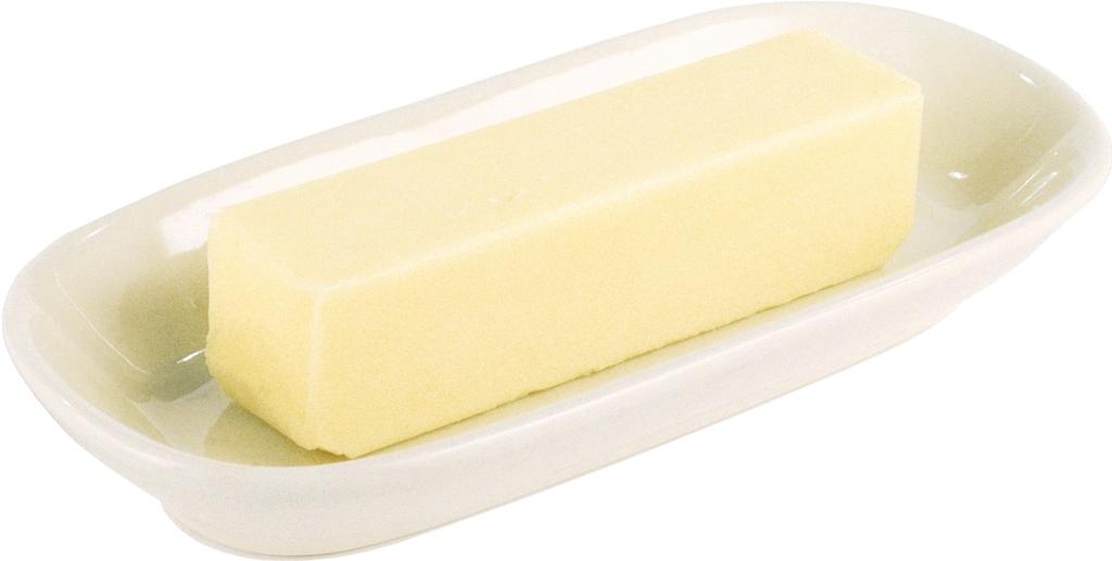 una vaschetta con un pezzo di margarina