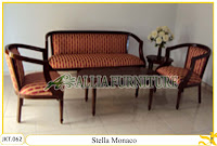 Set Kursi dan Meja Tamu Ukiran Kayu Jati Stella Monaco