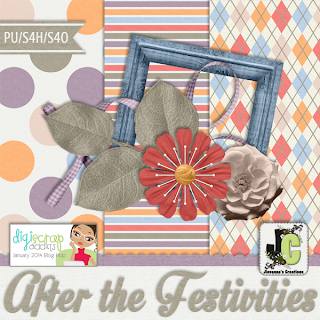 DigiScrap Addicts Blog Hop - After The Festivities
