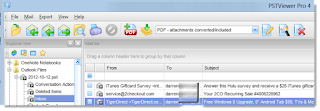 Toolbar for PST Viewer Pro