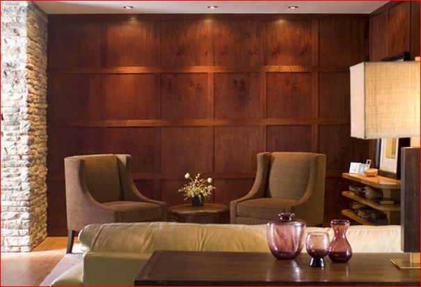 O luxo dos revestimentos em madeira natural larissa - Rivestire parete in legno ...