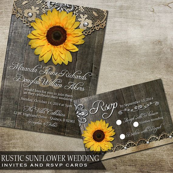 Sunflowers Wedding Ideas