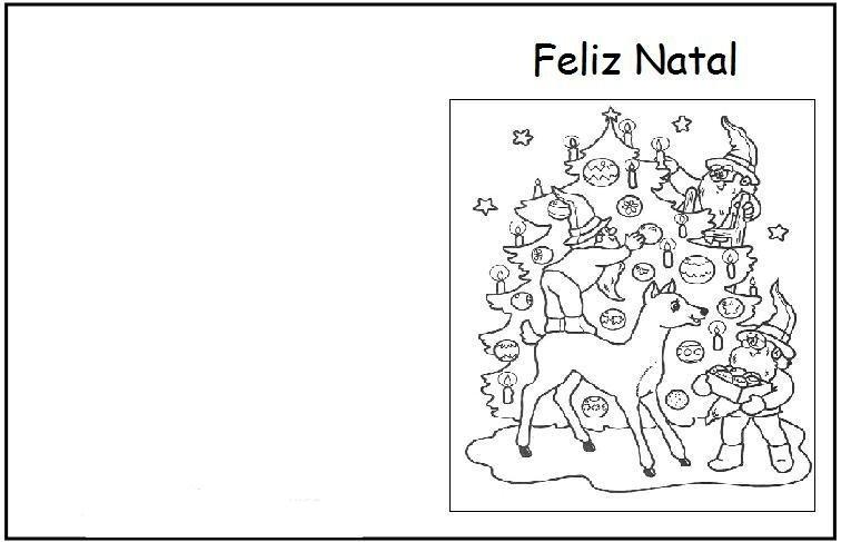 Basta Clicar No Desenho Do Cart  O De Natal  Para Ampliar E Imprimir