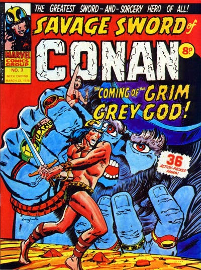 Marvel UK, Savage Sword of Conan #3, the grim grey god