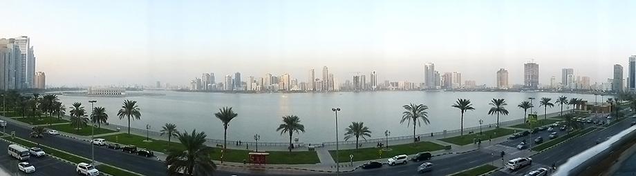 Ynas Reise BLog | VAE | Blick aus dem HIlton in Sharjah