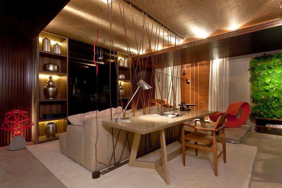 Home Office Em Sala De Estar ~ 30 Salas com home offices integrados  veja modelos inspiradores e