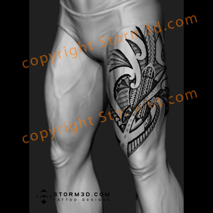 turtle thigh tattoo design pictures