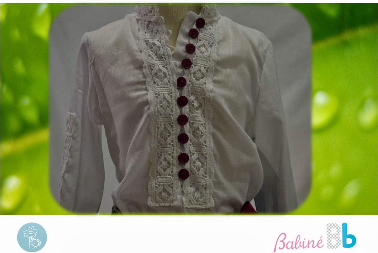 Babiné -Colección Primavera-Verano- Detalle camisa conjunto falda