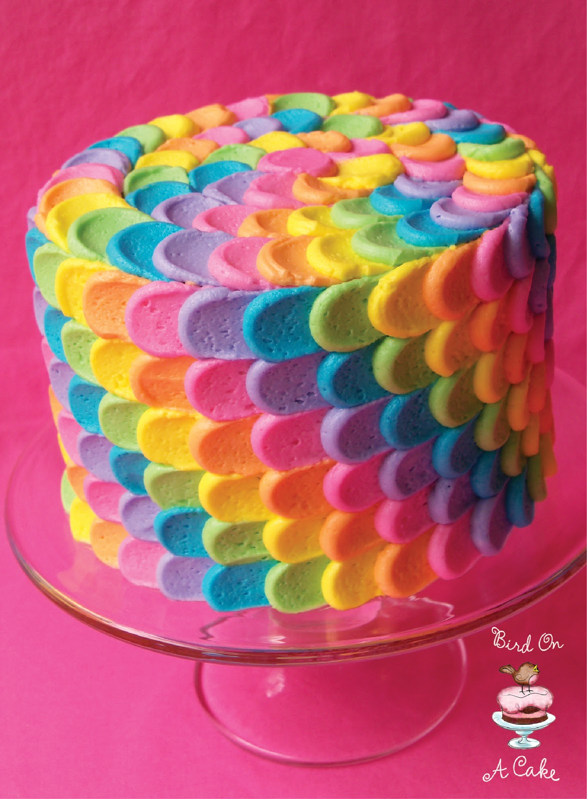 Birthday Cake Rainbow Design : Bird On A Cake: Rainbow Petal Cake {Virtual Baby Shower!}