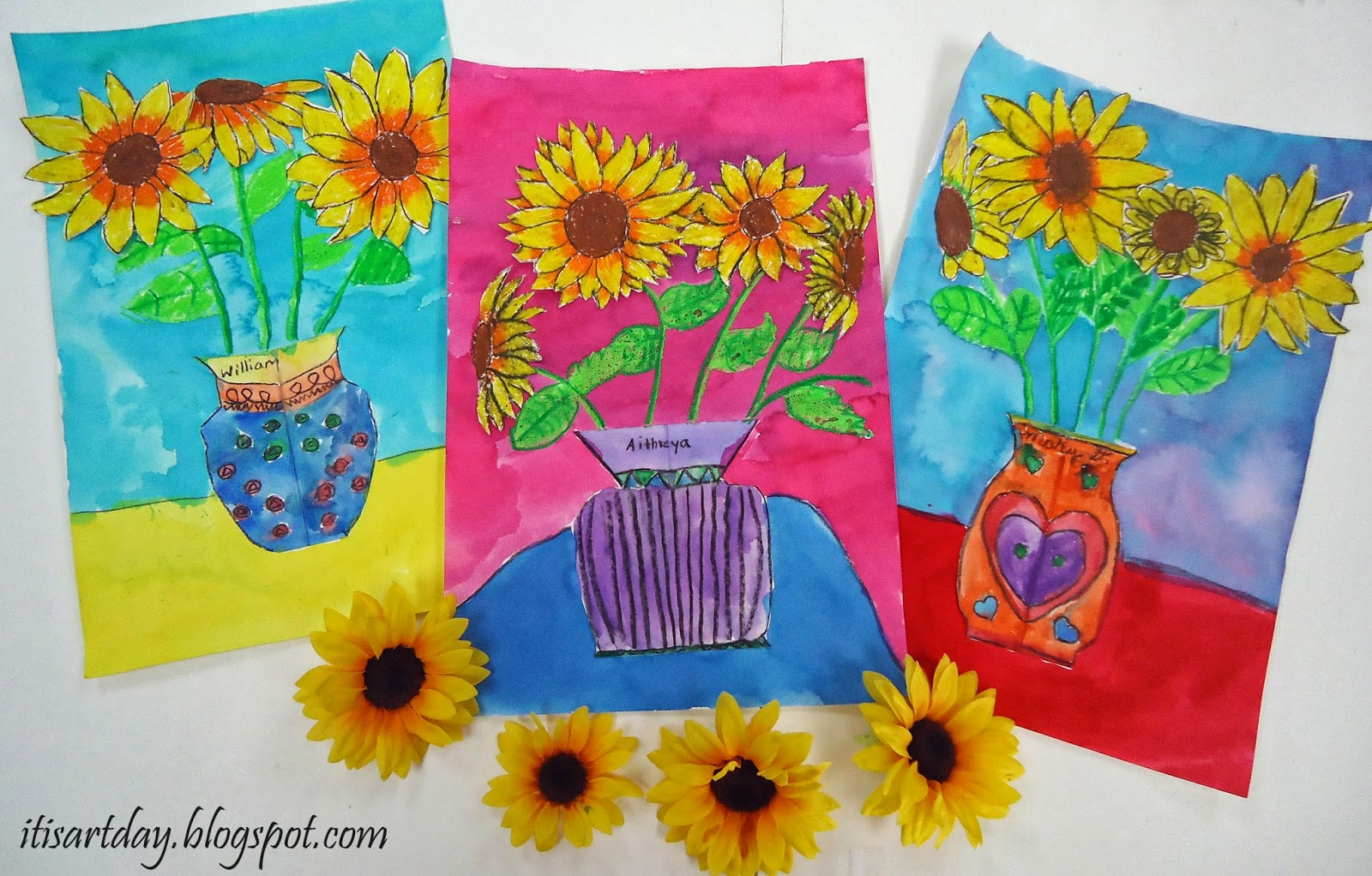 We Are So Ready For Spring While The Sunflower Isnt A Flower In North Texas Color Is Really Warming Us Up I Changed My 2nd Grade Mixed Media