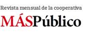 """Logo de la cooperativa """"Más Público"""", editora del periódico """"La Marea"""""""
