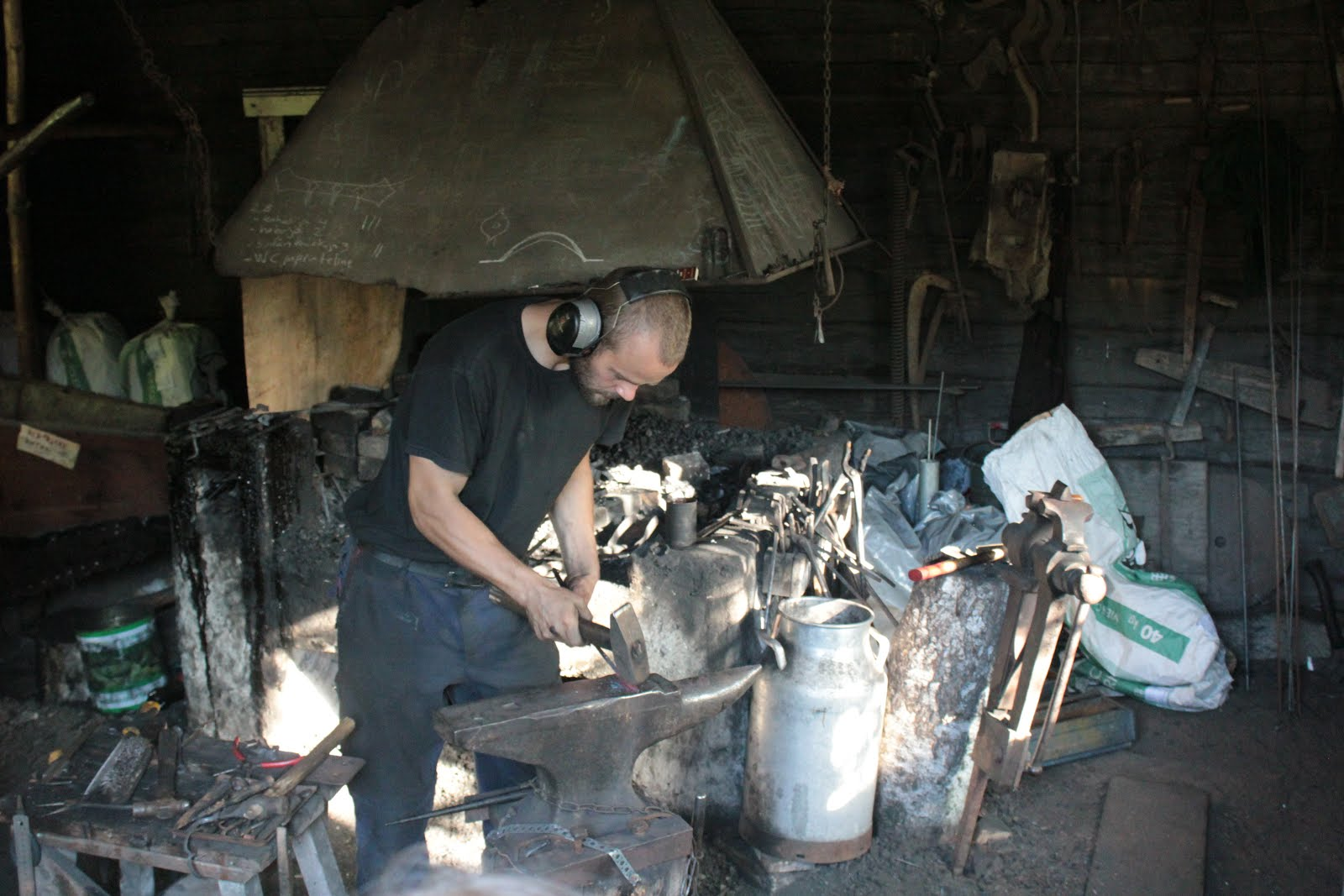 I am a blacksmith and craftsman whose hobbies are hunting, fishing, gathering and bushcrafting