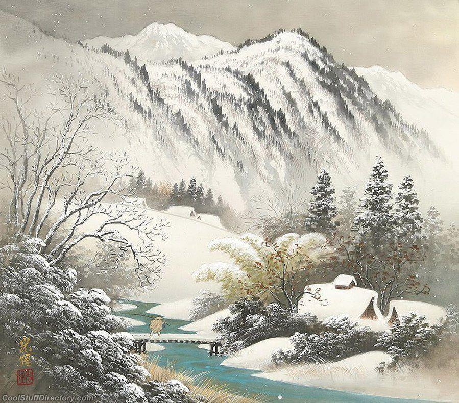 Japanese Landscape Painting Wallpaper in Japan as   landscape