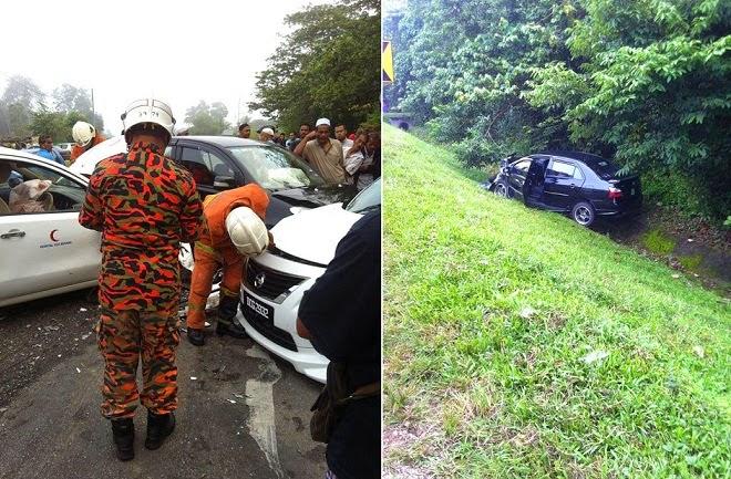 LEMBAGA Misteri Muncul Di Tempat Kemalangan 7 buah Kenderaan Di Kuala Krai