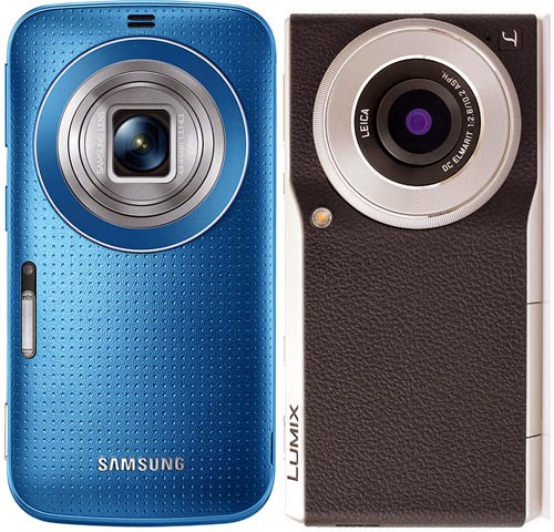 Samsung Galaxy K Zoom, Panasonic Lumix DMC-CM1, Panasonic smart camera, Panasonic Lumix DMC-CM1 vs Samsung Galaxy K Zoom, full frame sensor, hybrid camera,