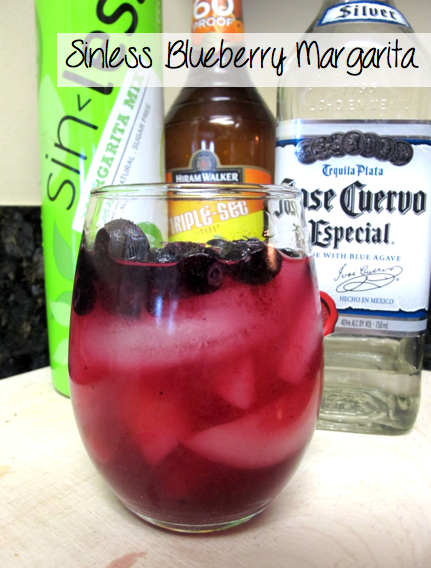 blueberry margarita recipe, sinless cocktails recipes