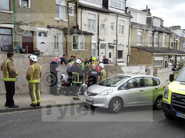 Man with severe burns flown by Air Ambulance to Hospital from Lonsdale Street, Bradford