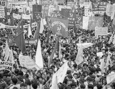 PCB anos 80 - Movimento pelas Diretas Já! em 1983