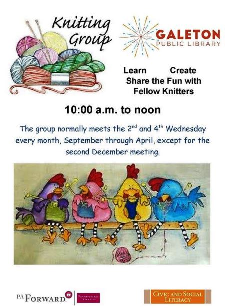 Knitting Group Galeton Library