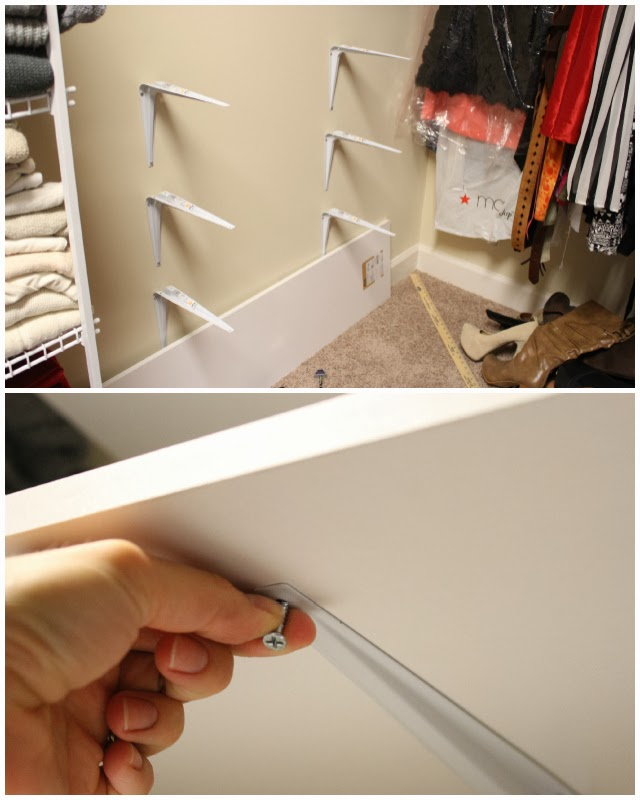 Shoe shelves, diy