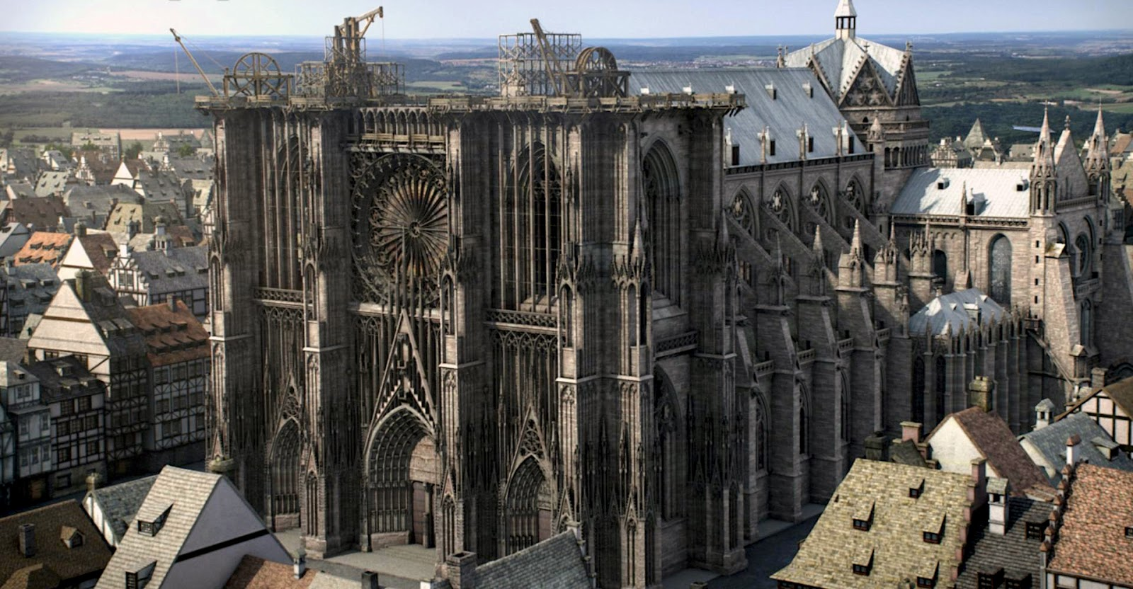 photo of cathedral in Strasbourg, France