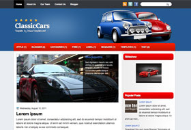 ClassicCars Blogger Template