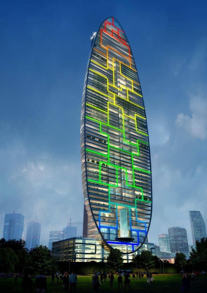 the skyscraper architecture indra tower mumbai