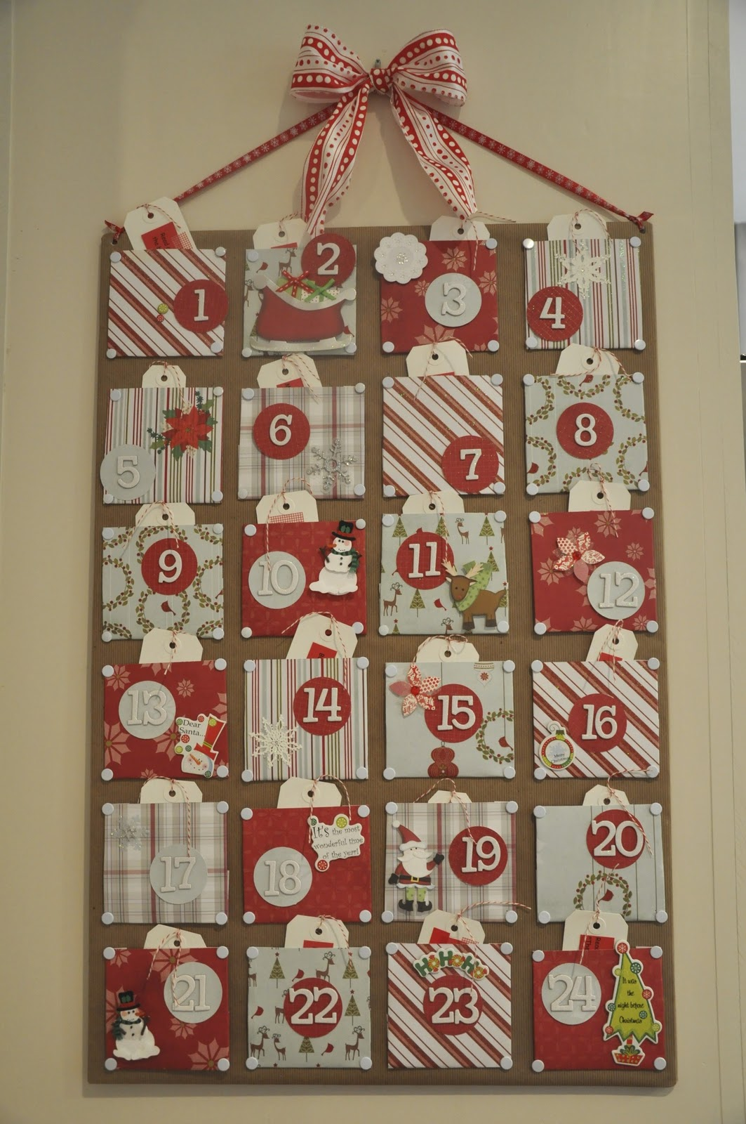 Sewn Advent Calendar Ideas : Christmas craft advent calendar honey we re home