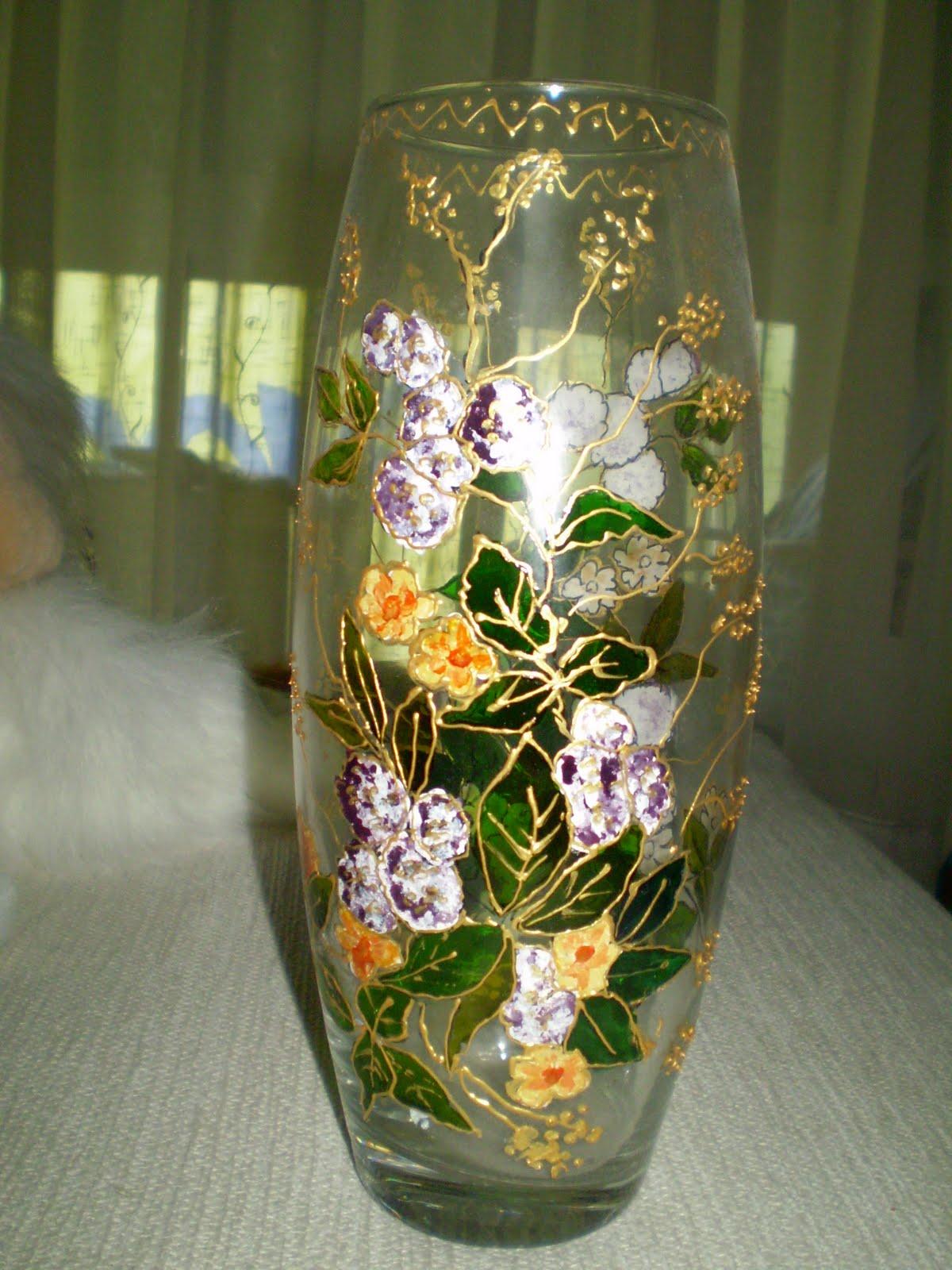 Syb artesan a jarrones de cristal pintados - Jarrones de cristal ...