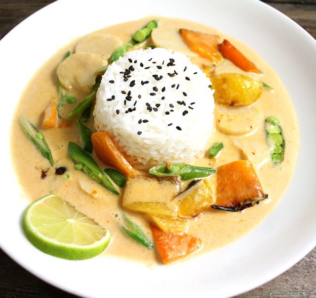 Oppskrift Thaigryte Currypaste Asiatisk Kokosmelk Suppe Gryterett
