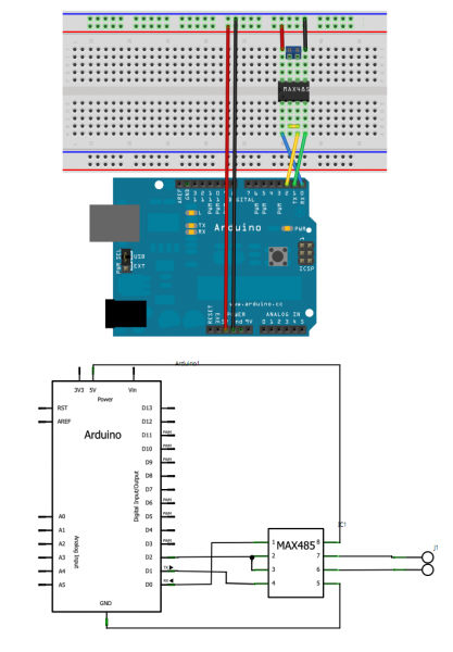 Arduino Experience: RS-485 Implementation on an Arduino