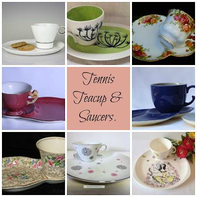 Tennis Teacup & Saucer Sets