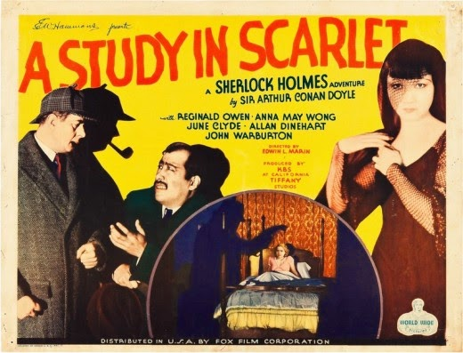 Sherlock Holmes: A Study in Scarlet Vintage 1933 film poster