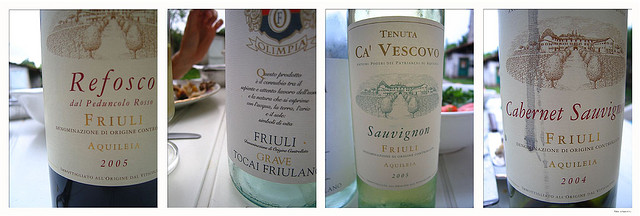 Refosco, Tocai Friulano, wines of Friuli