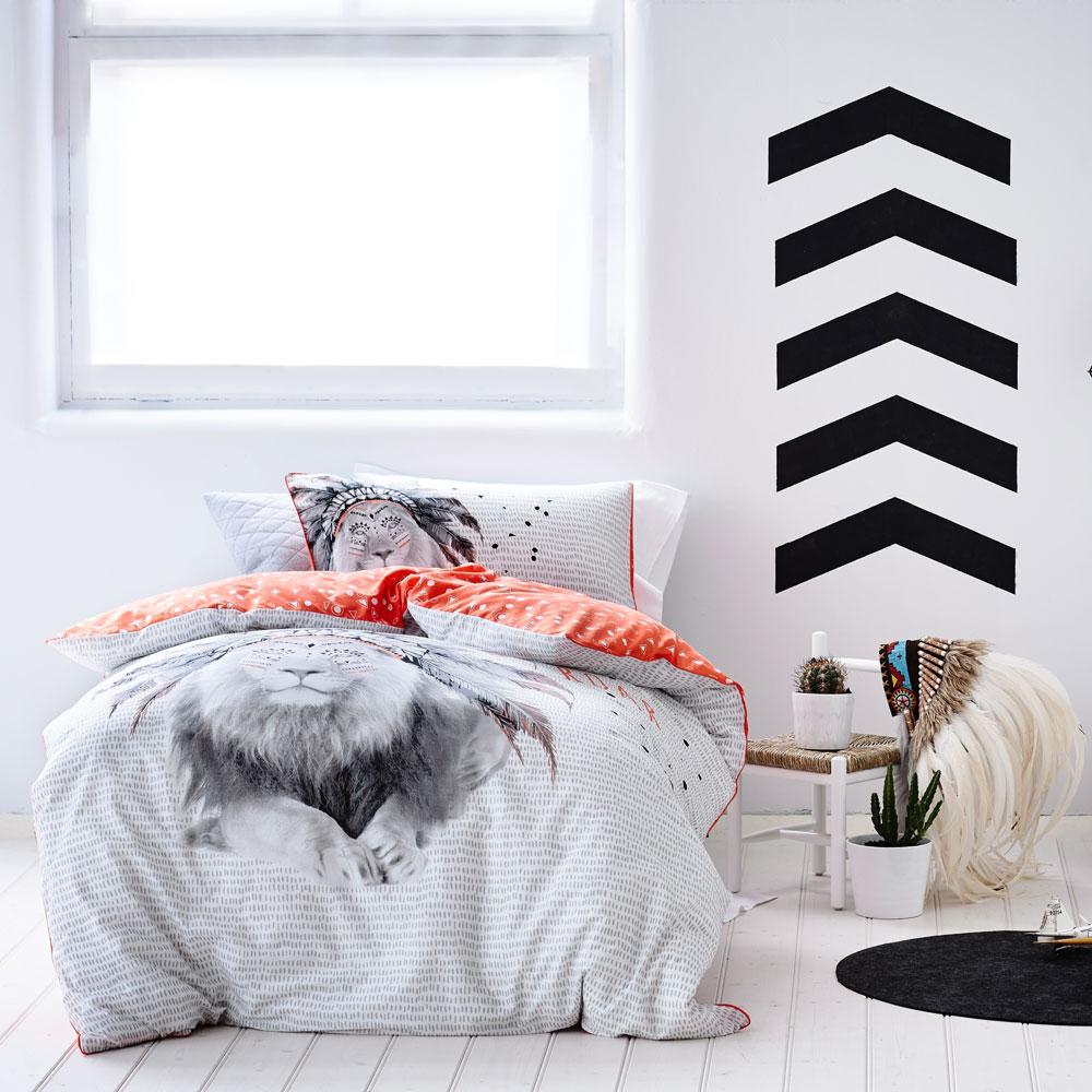 funda nórica león dormitorio niño original