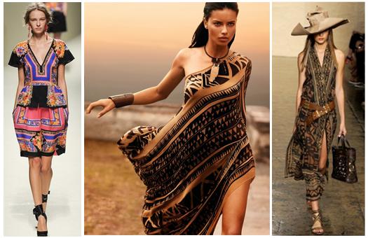 el estilo tnico tiene como base los estampados tribales combina una prenda estampada con otras solidas para que esa prenda sea el centro de atencin