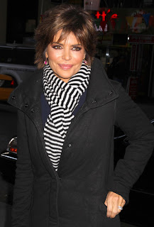 Lisa Rinna Short Tousled Layered Hairstyle