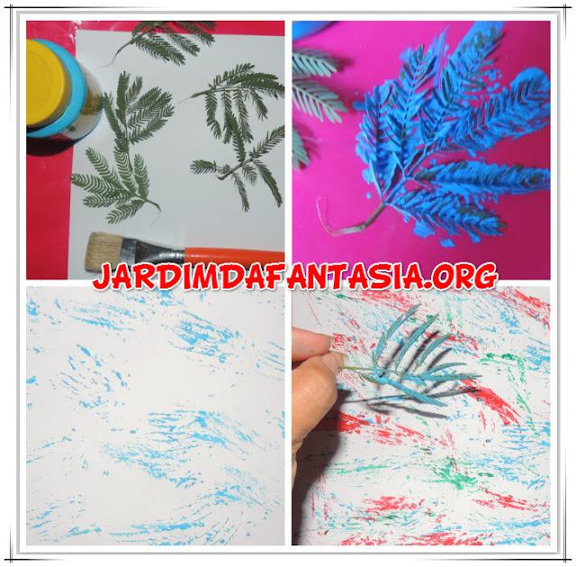 Artes Técnica de Pintura com Elemento Natural