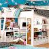 Decoración elegante para la Habitación de los Niños con escritorios