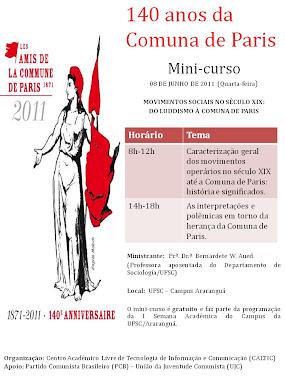 Mini Curso 140 anos da Comuna de Paris - UFSC