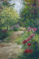 Floral pastel paintings available at Schreiner's Garden Gift Gallery from  May 12 - 31, 2017