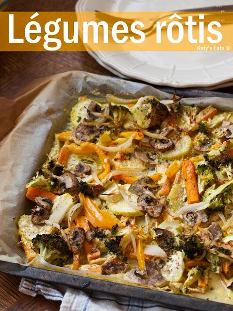 légumes rôtis au four recettes, legumes rotis recette,  légumes rotis au four, légumes grillés four