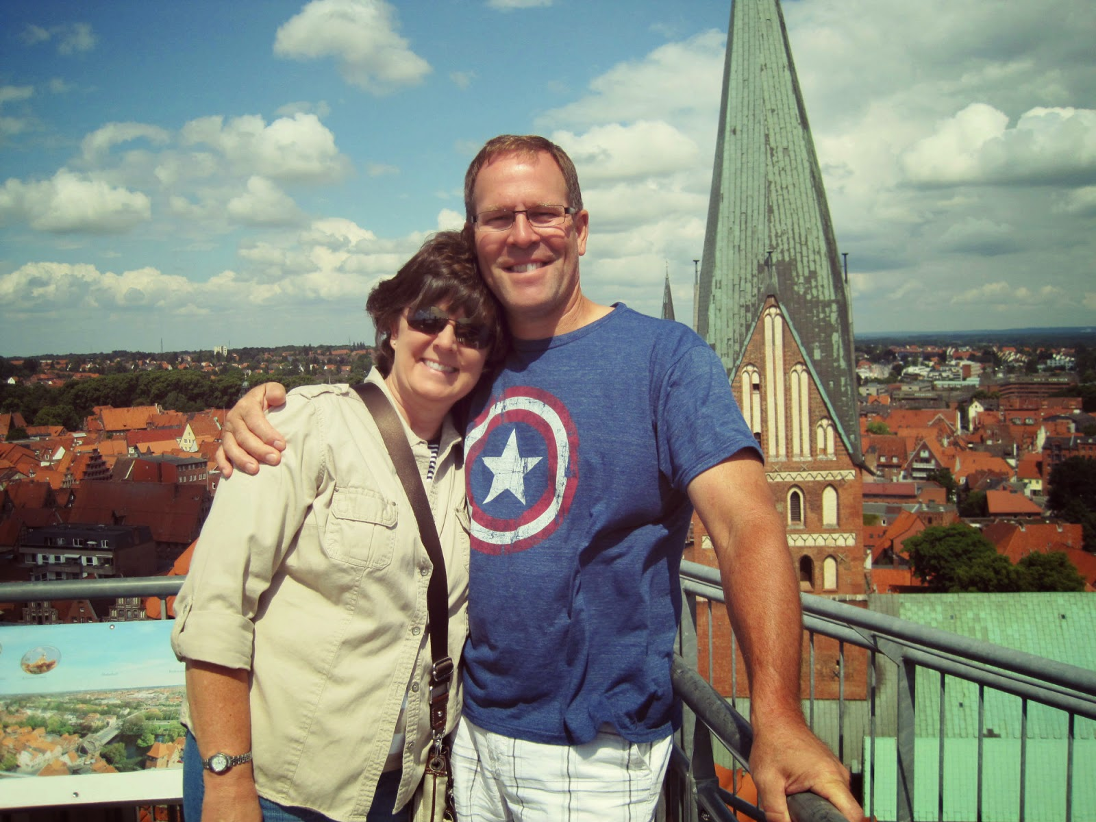 On top of the Lüneburg water tower