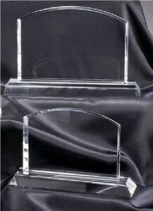 Arched Rectangle Crystal Award - Medium