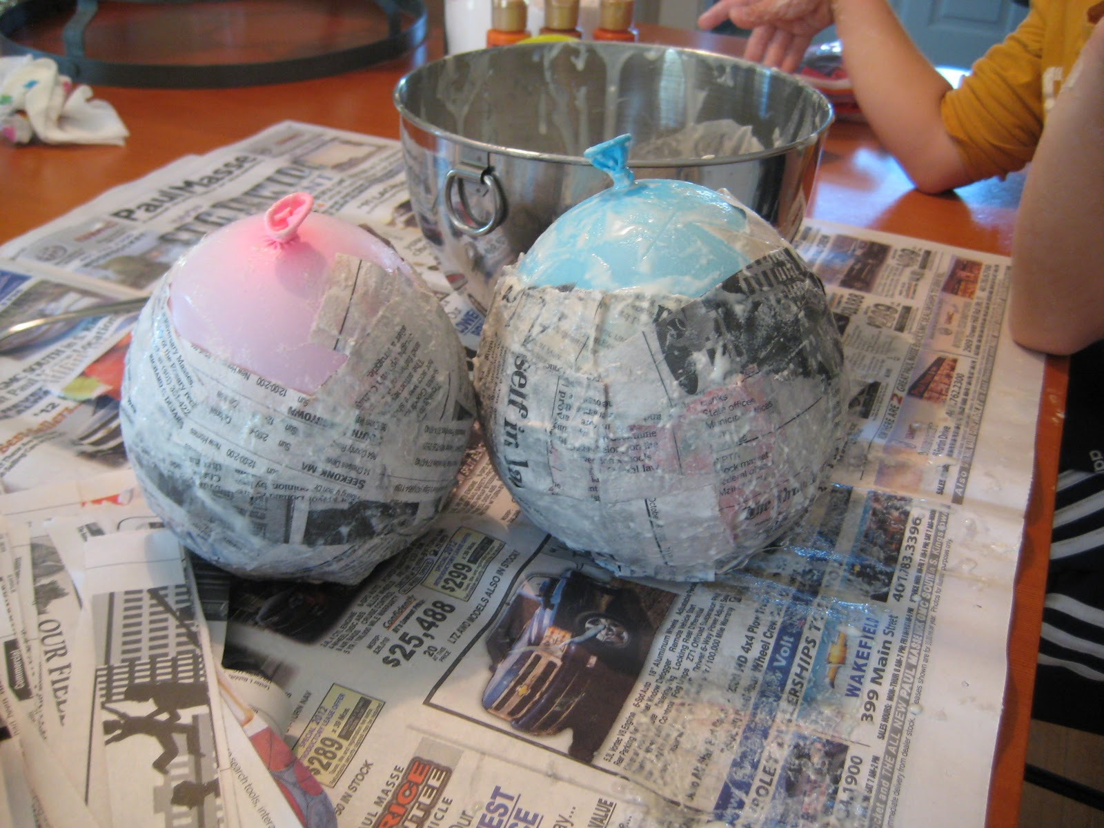 Spring hill farm paper mache jack o lanterns for How to make paper mache lamps