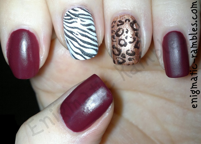 Animal-Print-zebra-leopard-stamped-stamping-Barry-M-Crush-Matte-White-ELF-eyes-lips-face-Copper-bundle-monster-BM221-BM223