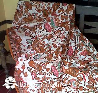 batik semi tulis moti burung